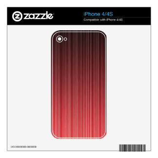 Red Striped Skin For iPhone 4S
