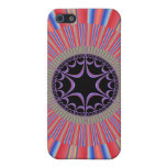 Red Striped Sunburst Fractal iPhone 5 Cover