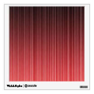 Red Striped Room Decals