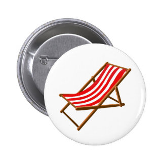 red striped wooden beach chair png pinback buttons