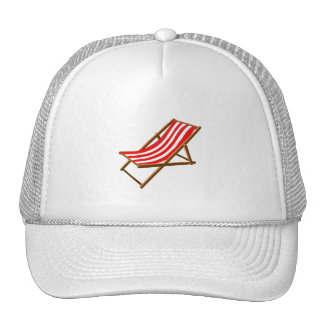 red striped wooden beach chair png hat