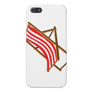 red striped wooden beach chair.png iPhone 5 cover