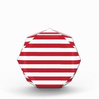 Red Stripes Acrylic Award