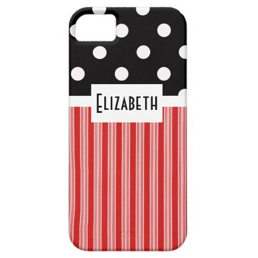Red Stripes and Polka Dots V2 iPhone 5 Case