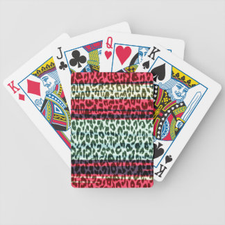 Red stripes animal fur abstract texture 2 bicycle playing cards