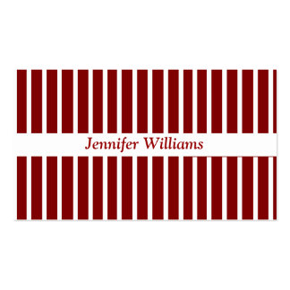 Red Stripes Business Card