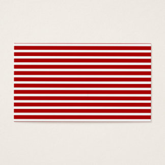 Red Stripes Business Card Blank (add text) ~