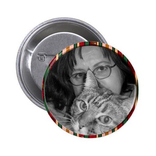 red stripes frame pins