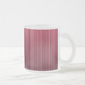 Red Stripes Frosted Glass Coffee Mug