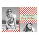 Red Stripes -holiday photocard Invitations