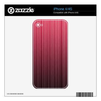 Red Stripes iPhone 4 Skin