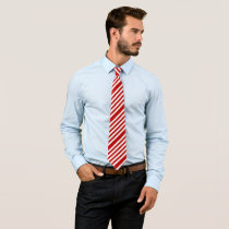 Red stripes neck tie
