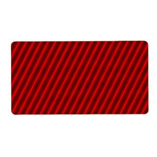 Red Stripes Pattern Label