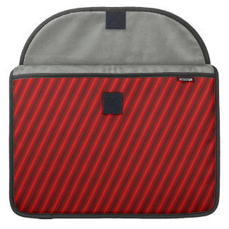 Red Stripes Pattern MacBook Pro Sleeve