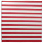 Red Stripes Pattern Napkin