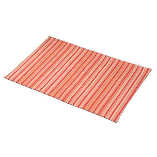 Red stripes place mat