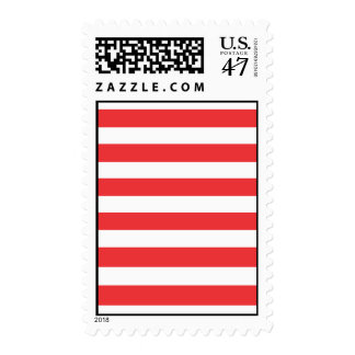 Red Stripes Postage Stamp