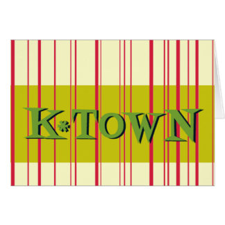 Red Stripes Retro K*Town Card