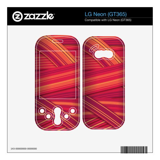 red stripes ribbon effect decals for LG neon