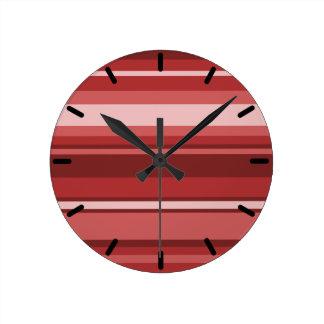 Red stripes round clock