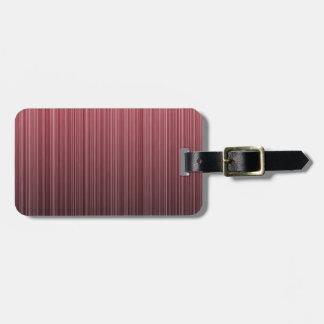 Red Stripy Bag Tag