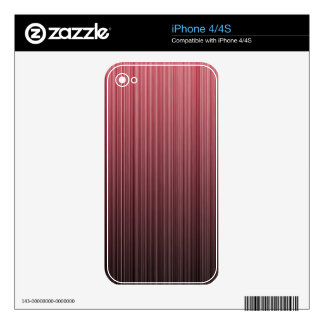 Red Stripy Decal For The iPhone 4S