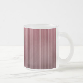 Red Stripy Frosted Glass Coffee Mug