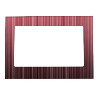Red Stripy Magnetic Photo Frame