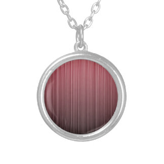 Red Stripy Personalized Necklace