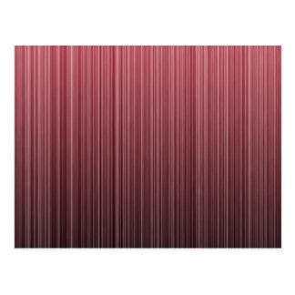 Red Stripy Postcard
