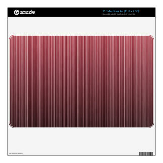 Red Stripy Skin For MacBook Air
