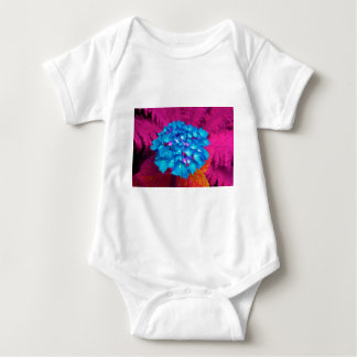 red stronghold they blooms with fern in the garden baby bodysuit