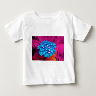 red stronghold they blooms with fern in the garden baby T-Shirt