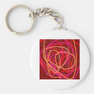 red stuff basic round button keychain