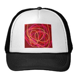 red stuff trucker hat