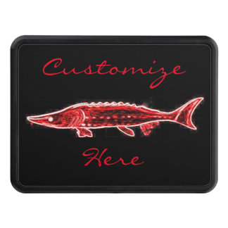 red sturgeon black Thunder_Cove Trailer Hitch Cover