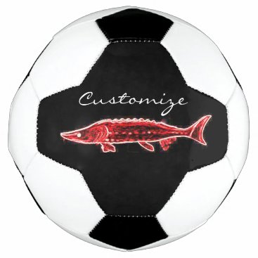 Beach Themed red sturgeon Thunder_Cove Soccer Ball