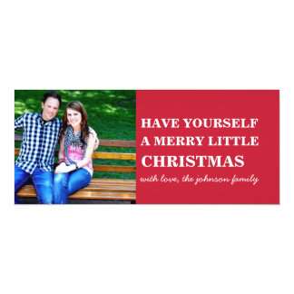 Red Style Photo Christmas Flat Cards