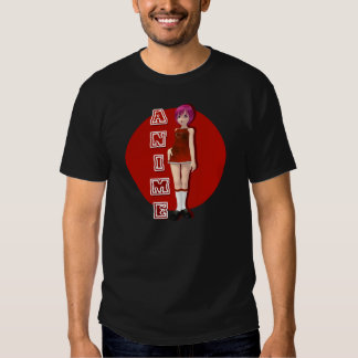 Red-Style Pink-Haired Anime Fan Shirt