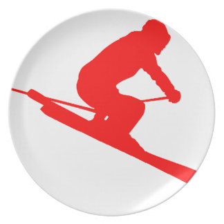 RED STYLE SKI PARTY PLATES