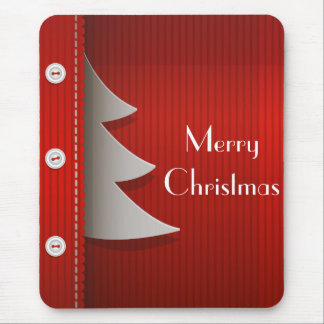 Red Stylish Merry Christmas design Mouse Pad