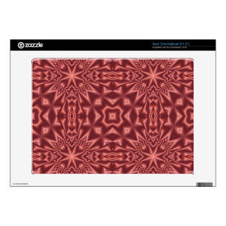 Red stylish pattern acer chromebook decals