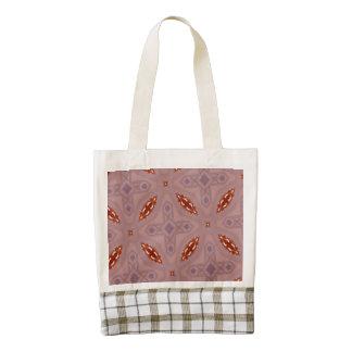 Red Stylish Pattern Zazzle HEART Tote Bag