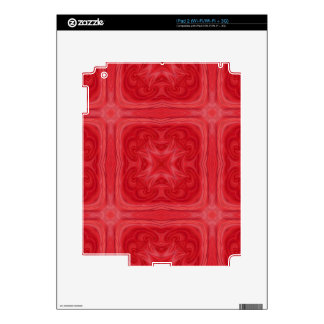 Red stylish wood pattern decals for iPad 2