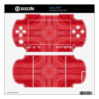 Red stylish wood pattern sony PSP skins