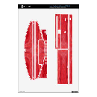 Red stylish wood pattern skin for the PS3