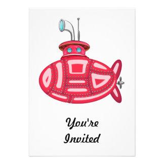 Red Submarine Card
