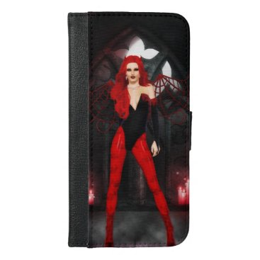 Halloween Themed Red Succubus iPhone 6/6s Plus Wallet Case