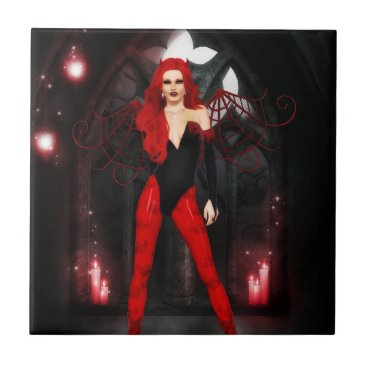 Halloween Themed Red Succubus Tile