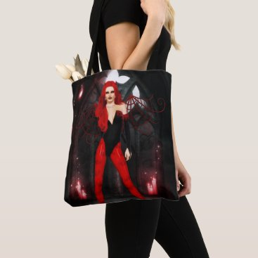 Halloween Themed Red Succubus Tote Bag